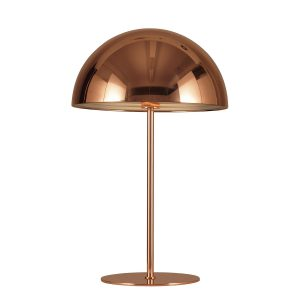 Halvmåne bordlampe kobber fra VillaMax