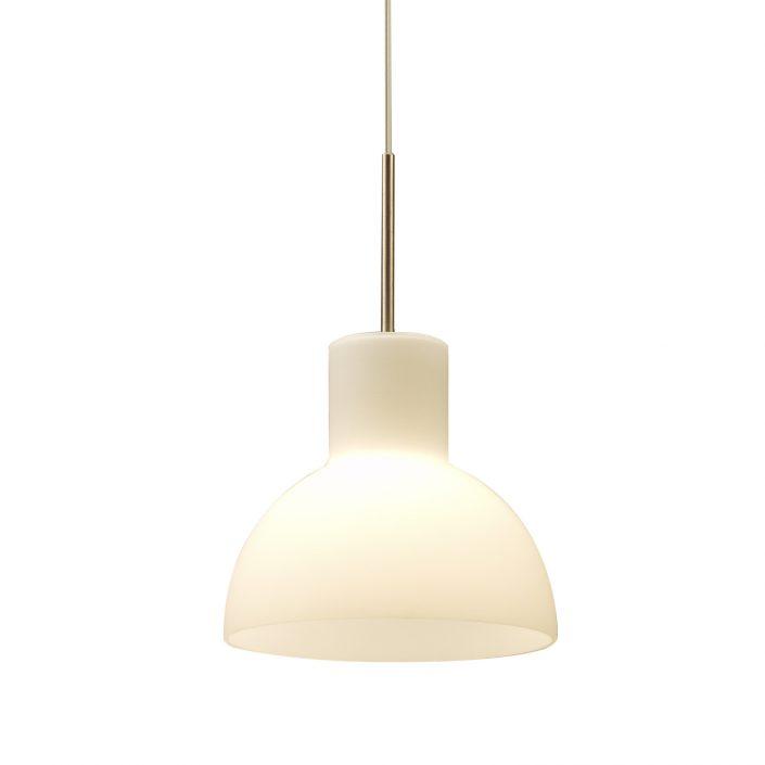 Hvid glaslampe Etienne fra VillaMax.dk