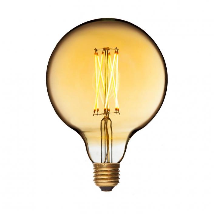 Dekorationspære LED Mega Edison Gold E27 fra DANLAMP hos VillaMax.dk