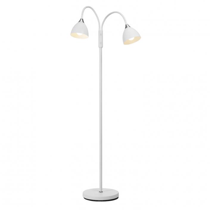 Justerbar gulvlampe hvid til stuen fra VillaMax