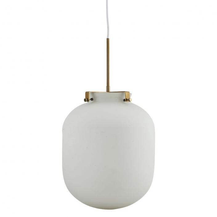 Hvid glaslampe Ball fra House Doctor